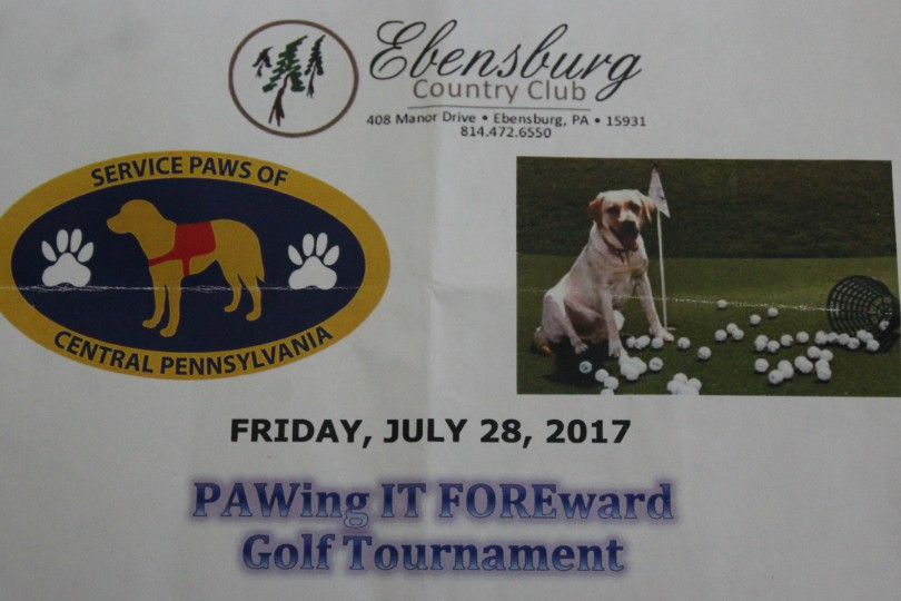 PAWing it FOREward is a golf tournament that benefits the Service Paws of Central PA.