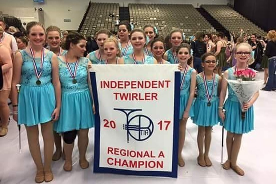 The Starlight Twirlers out of Tyrone, which features three standouts from B-A in Drina Jones, Danielle Coakley and Dionna Pearce, recently captured the Atlantic Cost championship.