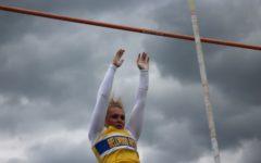 Alexis Gerwert has broken multiple records in track through pole vaulting.