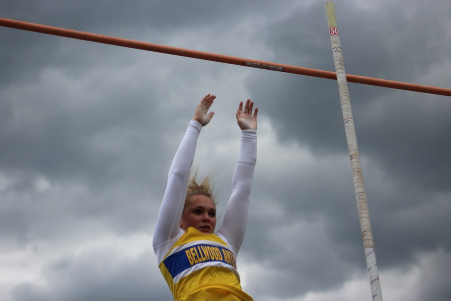 Alexis Gerwert has broken multiple records in track through pole vaulting.