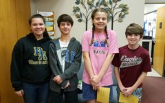 Middle school Students of the Week include (l to r): Mikayla Rodland, Cole Cherry, Bailee Conway, and Ethan Johnson.