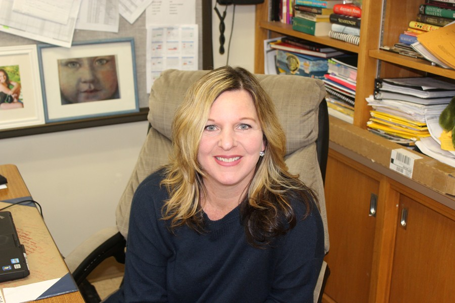 Mrs. Campbell has enjoyed her move to the middle school.