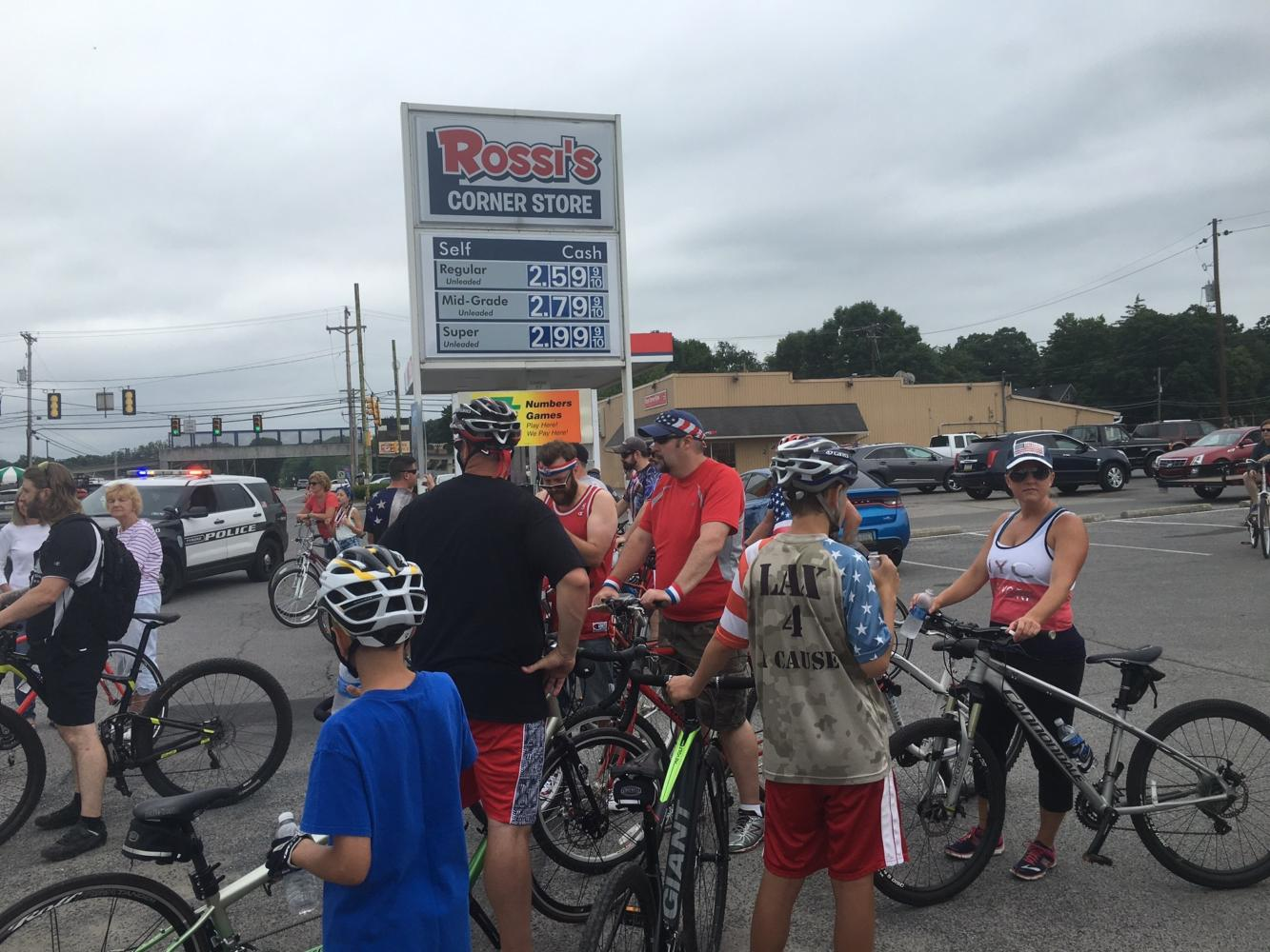 Freedom Ride starts in Tyrone and turns around at the halfway at Rossi's Corner Store in Tipton.