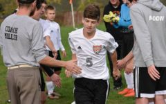 Corey Johnston scored a pair and had a hand in every goal in the soccer team's win over P-O.