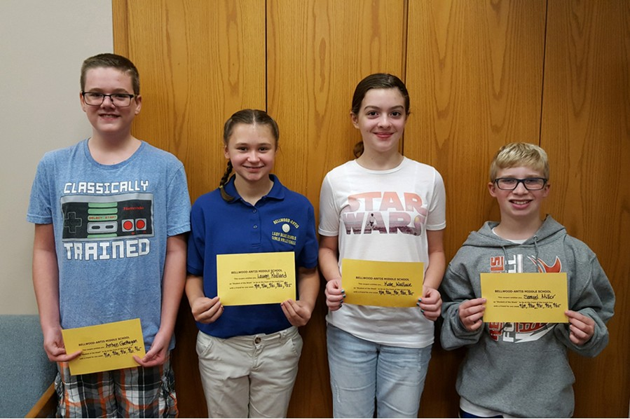 Ms students of the week announced the blueprint this weeks middle school students of the week are l to r arrhen malvernweather Choice Image
