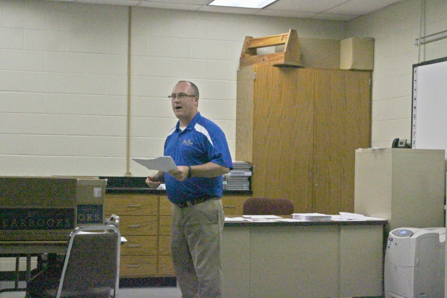 Local businessman Rob Tyler visited Bellwood-Antis last week to speak about personal finances.