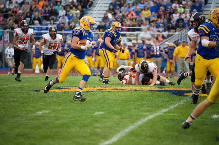 Thor Schmittle has been a key on both sides of the ball for B-A.
