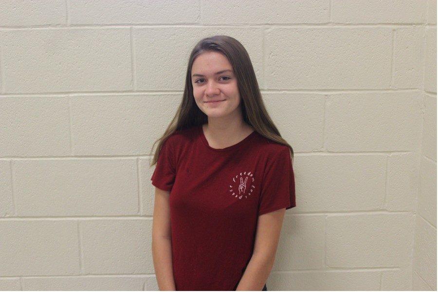 Freshman Emily Dively.