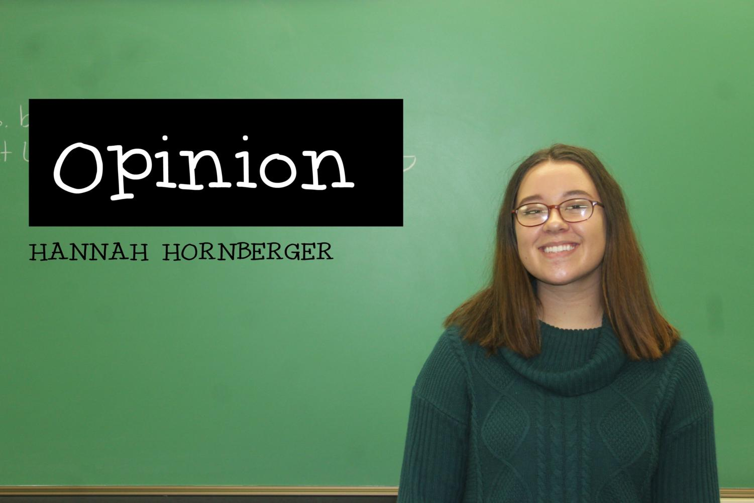 Hannah Hornberger is in favor of free speech, even if it's morally wrong;.