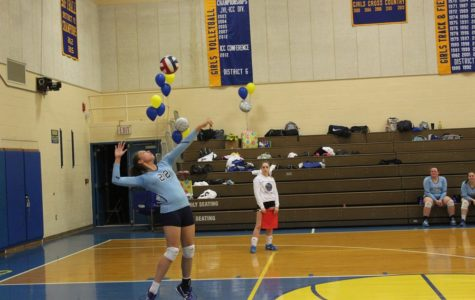 Volleyball steals win on senior night