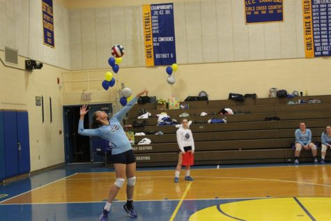 Volleyball steals win on senior night