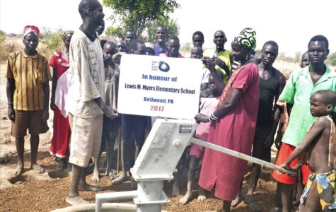 A well in South Sudan, created through funds donated by Myers Elementary, was recently completed.