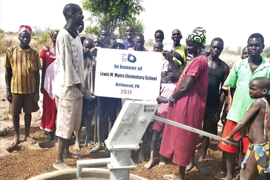 A+well+in+South+Sudan%2C+created+through+funds+donated+by+Myers+Elementary%2C+was+recently+completed.