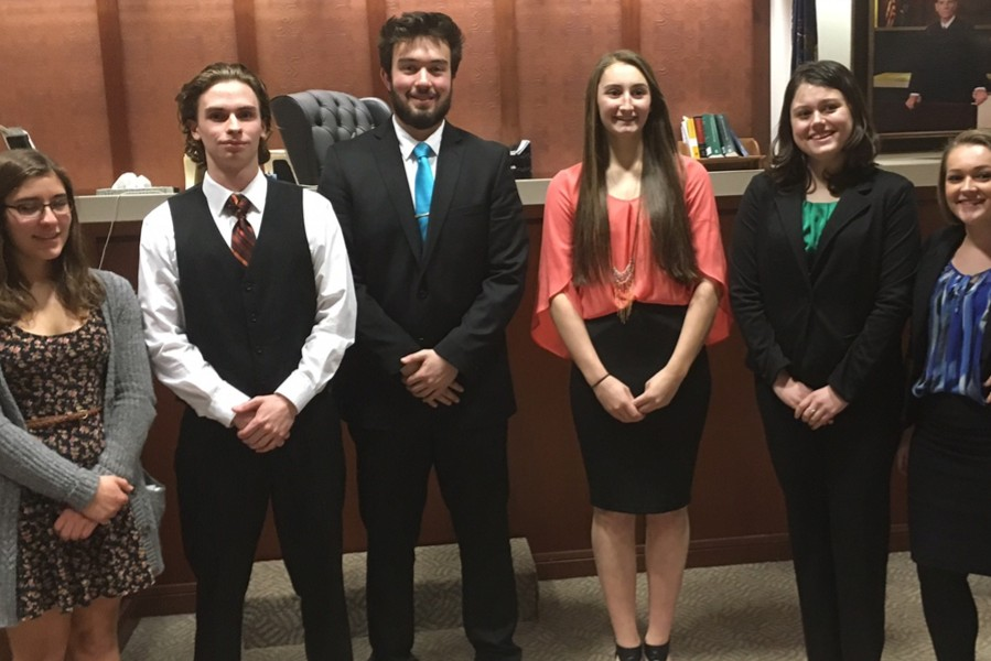 It's been a couple of years since B-A sent a mock trial team into competition. The 2016 team competed twice at the Hollidaysburg Courthouse.