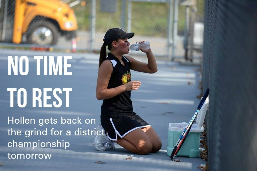 Tina Hollen is in the hunt for a District 6 single tennis championship.