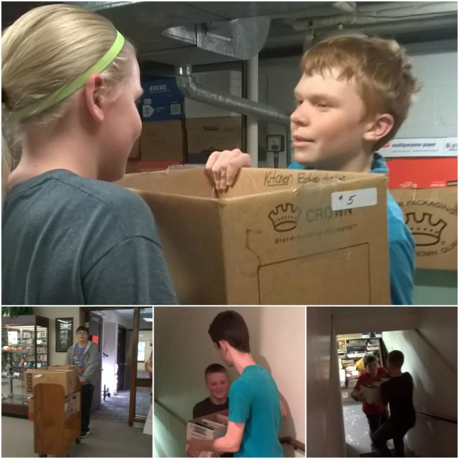 NJHS recently provided manpower for the B-A Public Library's book sale.