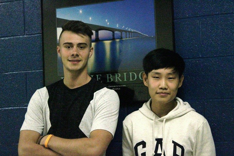 Paul Lemaire and Jun Park are two exchange students at Bellwood-Antis this school year.