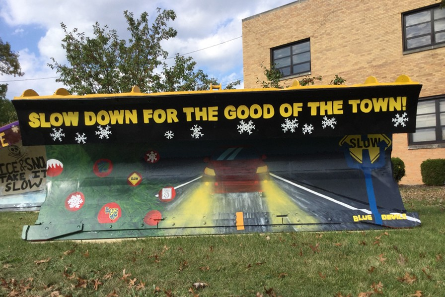 B-A art students have completed their plow decorating and now wait to see if they can repeat as PennDOT contest winners.