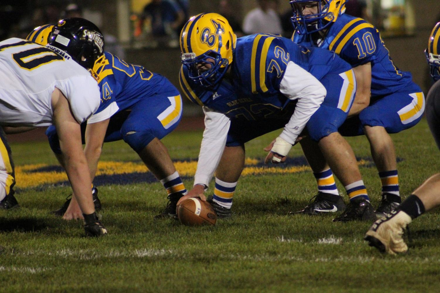 Jack Showalter and the rest of the Devils' talented offensive line will look to keep things going in the District 6 2A playoffs.
