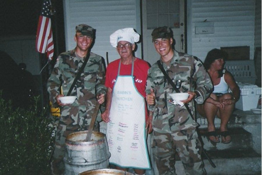 First grade teacher Dave Plummer (left) was there in New Orleans in 2005 to provide relief for those affected by Hurricane Katrina.
