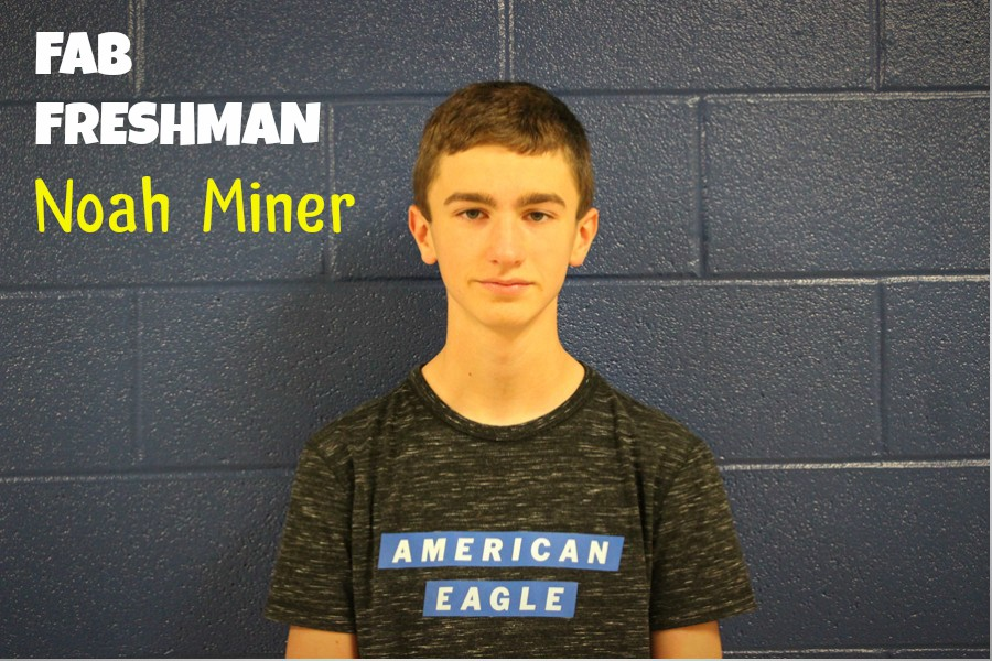 Noah Miner hasn't let the switch from middle school affect his academics.