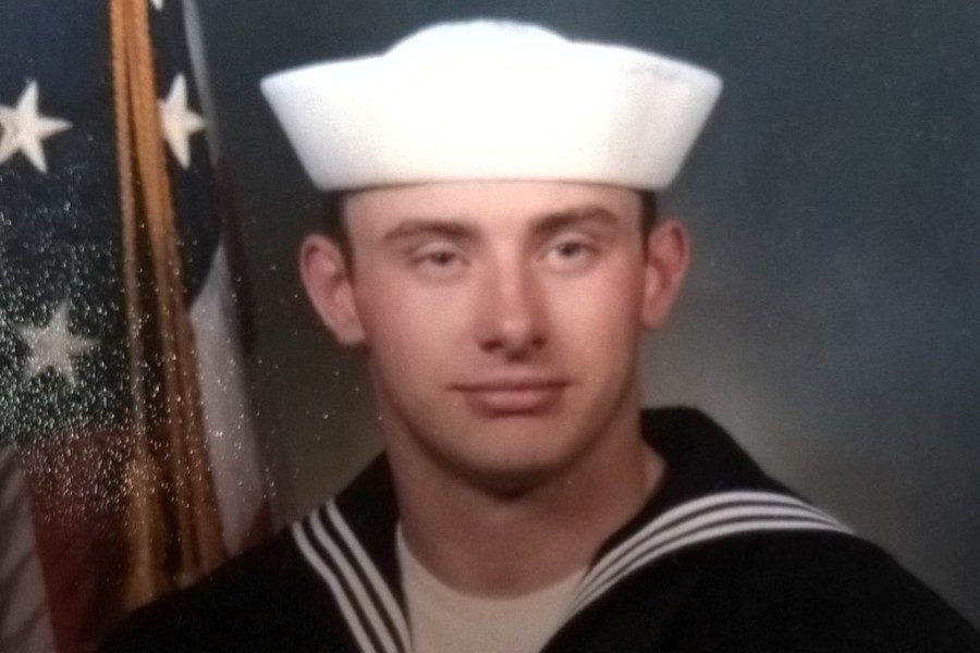 Tom Kovac, who is the Facilities Director for the Bellwood-Antis School District, received a Presidential Service Badge while serving in the Navy Seabees.