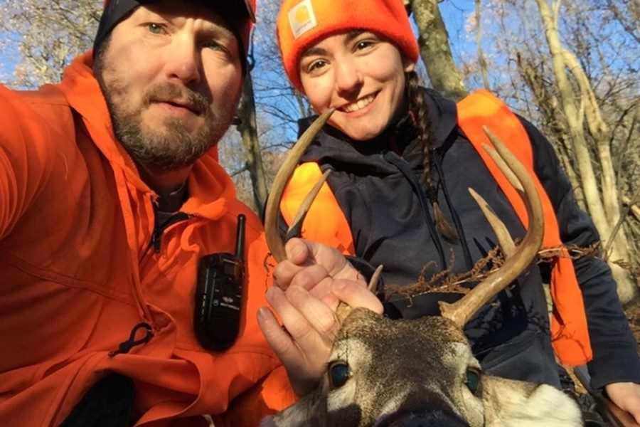 Cassidy Shawley got an 8-point on the first day of buck season with her father.