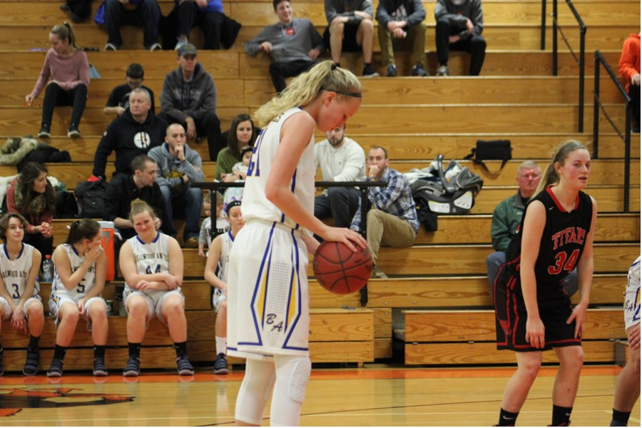 Sophomore Alli Campbell takes a foul shot against Tyrone