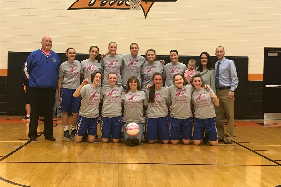 The traveling Pink Game trophy stayed in Bellwood with the Lady Devils' big win over Tyrone.