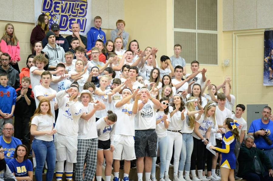 The student sections were out in full force for  both Bellwood-Antis and Tyrone at the rivalry game Friday.