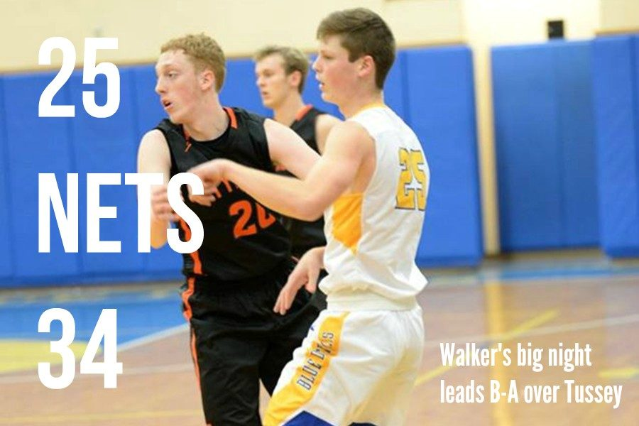 Trent Walker went off for 34 points against Tussey Mountain.