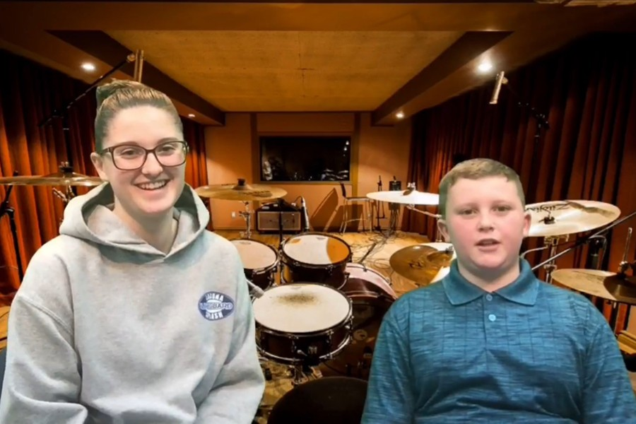Harrison Walker is getting serious with his passion for drums.