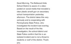 BASD releases announcement on bus video