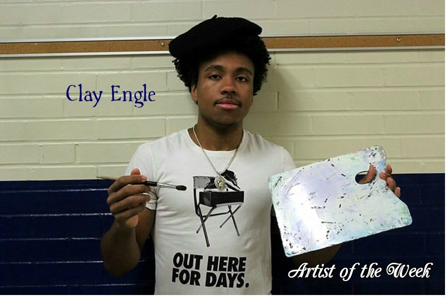 Clay Engle often uses art to soothe his soul after basketball.