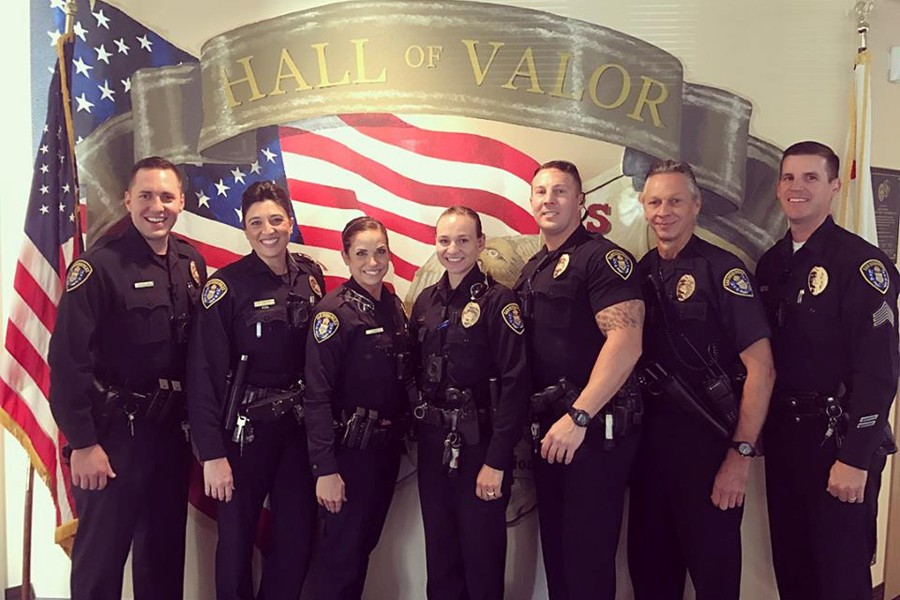 2007 grad David Burns, third from the right, is now a police officer in San Diego.