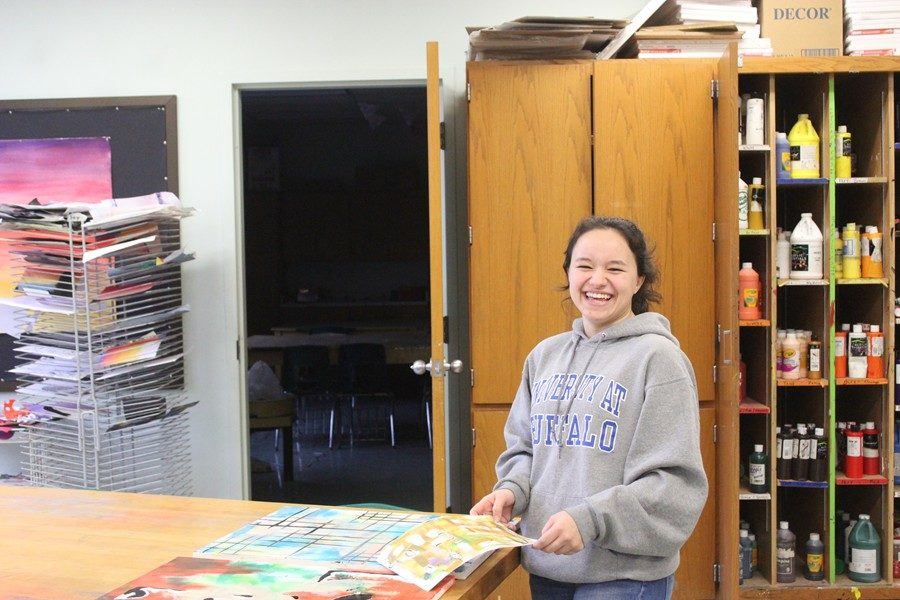 Hannah Wicks continues to work on visual arts, despite not taking a formal art class this year.
