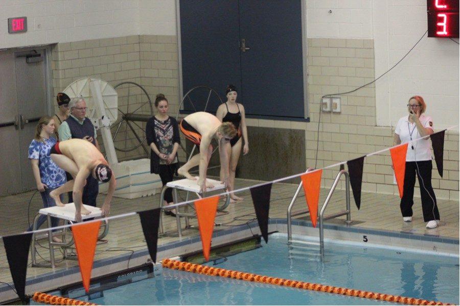 Hunter Gregg is enjoying his first season on the swim team.
