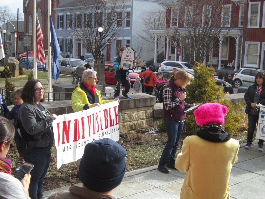 Hundreds of people participated in the Women's Rights March in Hollidaysburg on January 20.