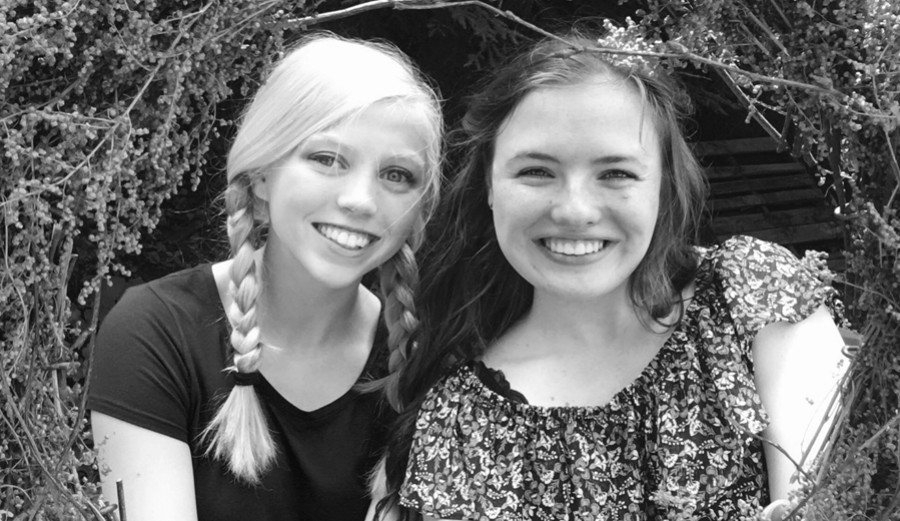 Cassidee Reiter (right) with her best friend Kaelynn (left).