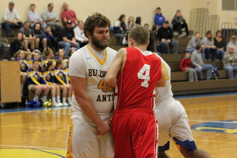 Jack Showalter, shown here in a game against Everett, hit a clutch foul shot down the stretch to keep B-A ahead against Mount Union.