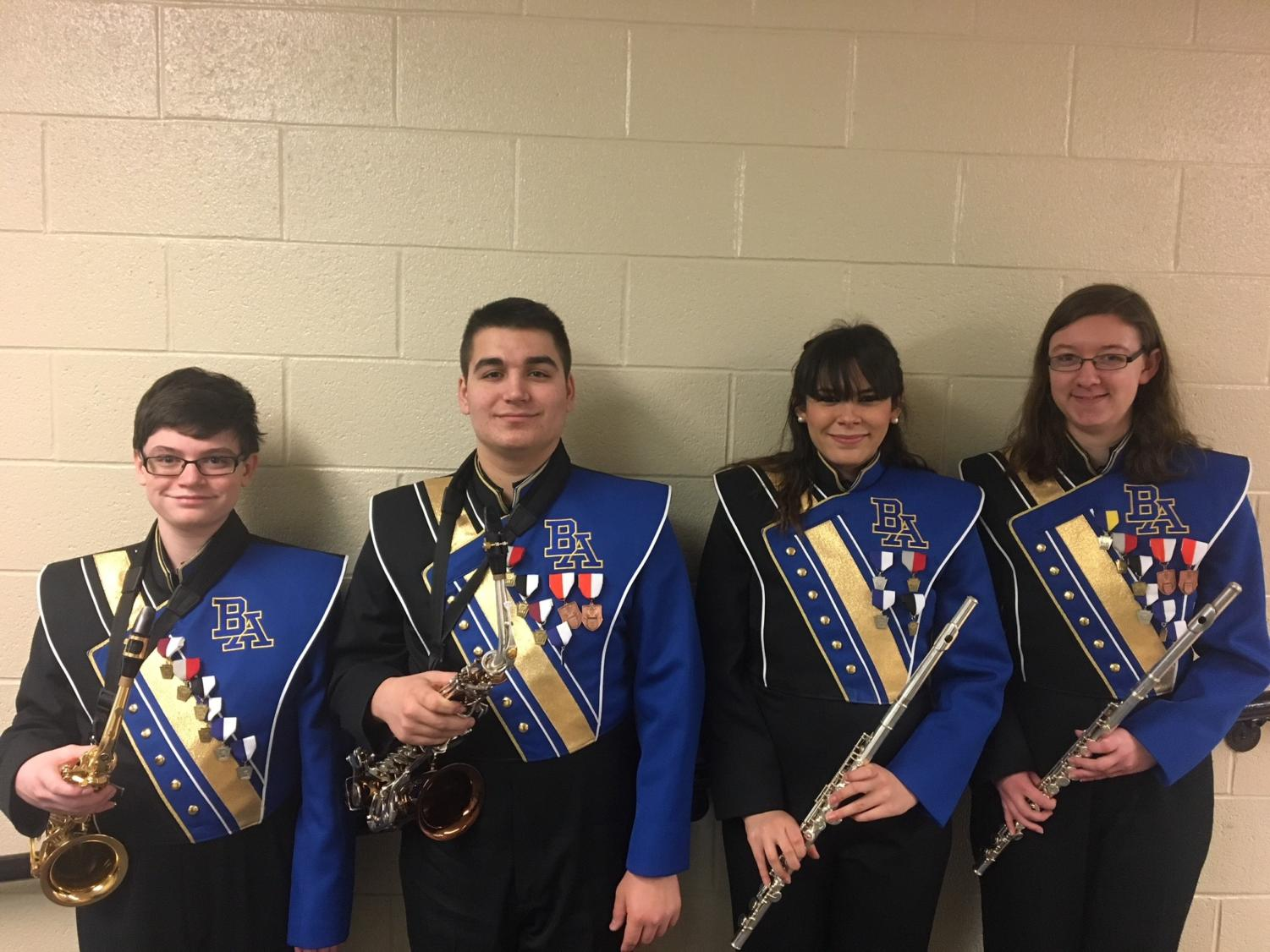 Alex Foose, Dominic Tornatore, Alanna Vaglica, and Kaitlyn Farber played last weekend at Region band.