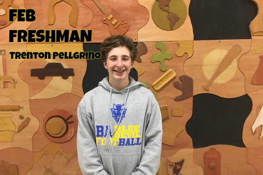 Trenton Pellegrino is enjoying freshman year.