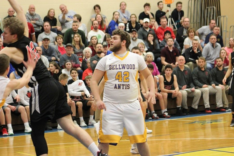 Jack Showalter was pone of several B-A big men tasked with slowing Central Cambria's Matt Holsinger, who scored a game-high 32 l