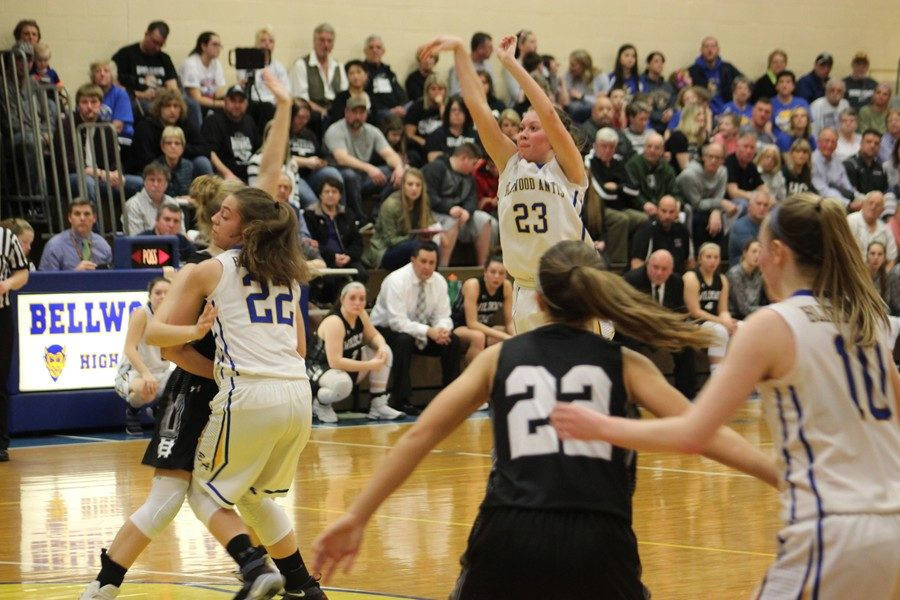 From girls District 6 playoff double-header; February 21, 2018. (Riley Miller)