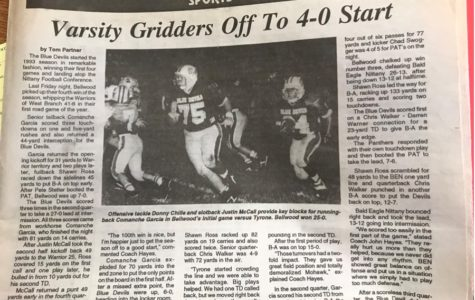 The football team started off 4-0 in 1993, led by Comanche Garcia.