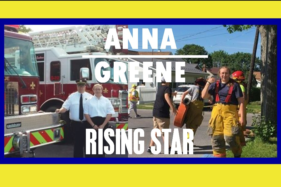 Anna Greene js a conscientious member of the Excelsior Fire Company in Bellwood.