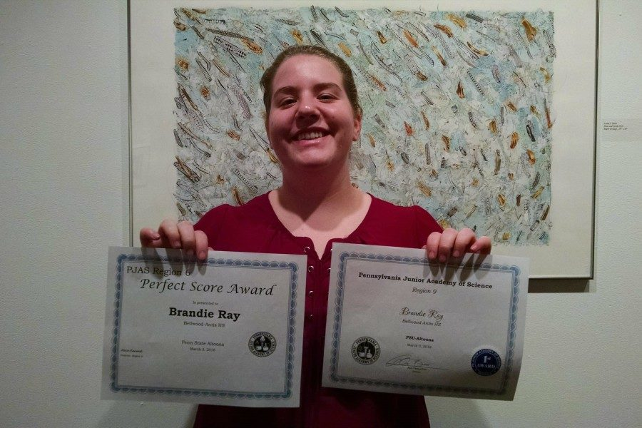 Brandie Ray earned a first award at PJAS and advanced to states.