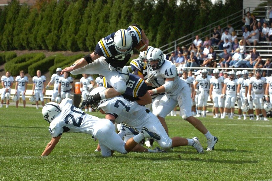 Josh Kleinfelter still holds several school records from his days playing football at Lycoming.