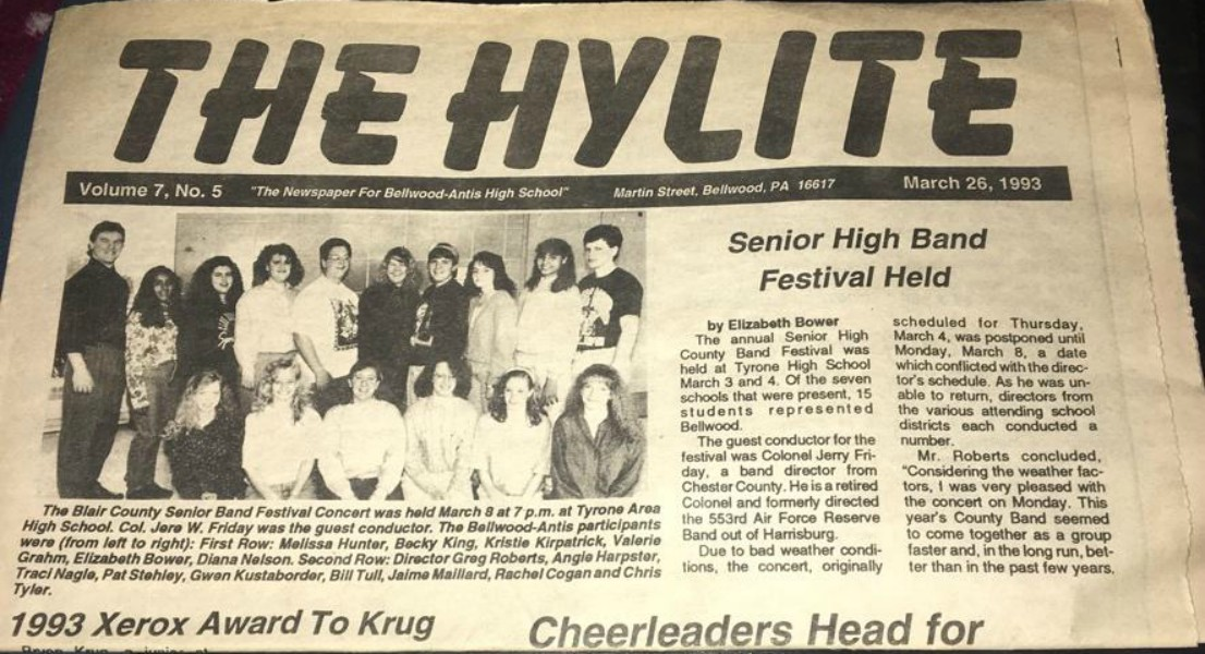 The story on the senior high band festival was originally published in The Hylite newspaper.