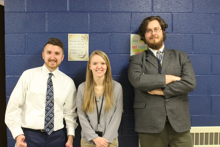 Mr. Cene, Ms. Martin, and Mr. Wible spent 6 weeks teaching at Bellwood-Antis.